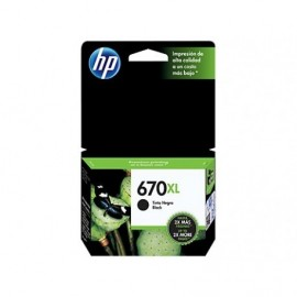 CARTUCHO HP ORIGINAL 670XL NEGRO PARA HP ORIGINAL 3525/4615