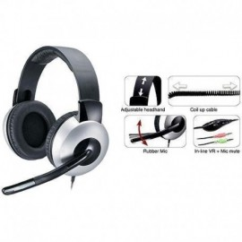 AURICULARES CON MICRÓFONO GENIUS HS-05A ROLL-UP CABLE